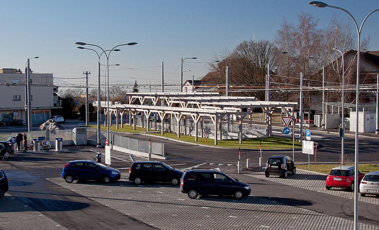 Ligne TL n° 8, arrêts et terminus  –  LE MONT-SUR-LAUSANNE – SUISSE